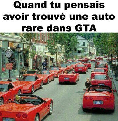 Les autos rares dans Gta