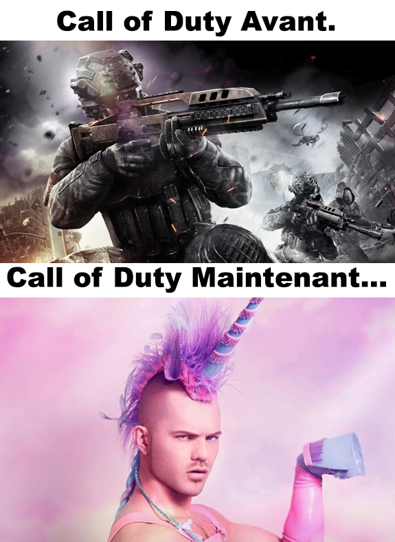 Call of Duty avant vs maintenant !