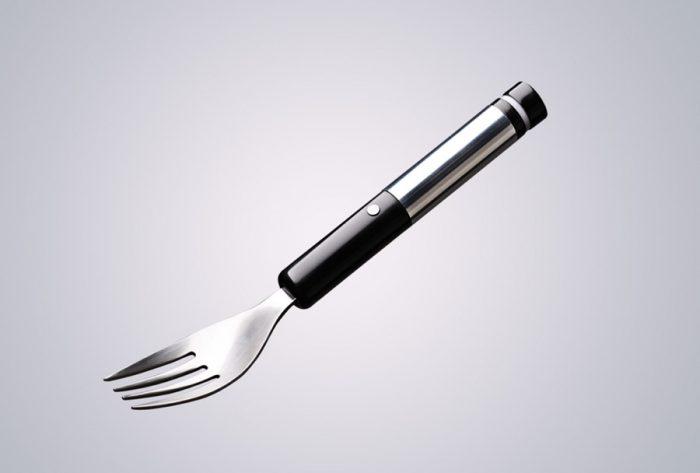 Une fourchette électronique qui vous aidera à consommer moins  de sel .