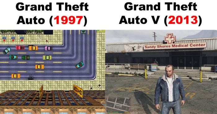 L'évolution graphique des jeux vidéo!