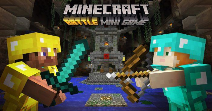 Minecraft un nouveau mode de combat seulement offert sur console pour cette été!