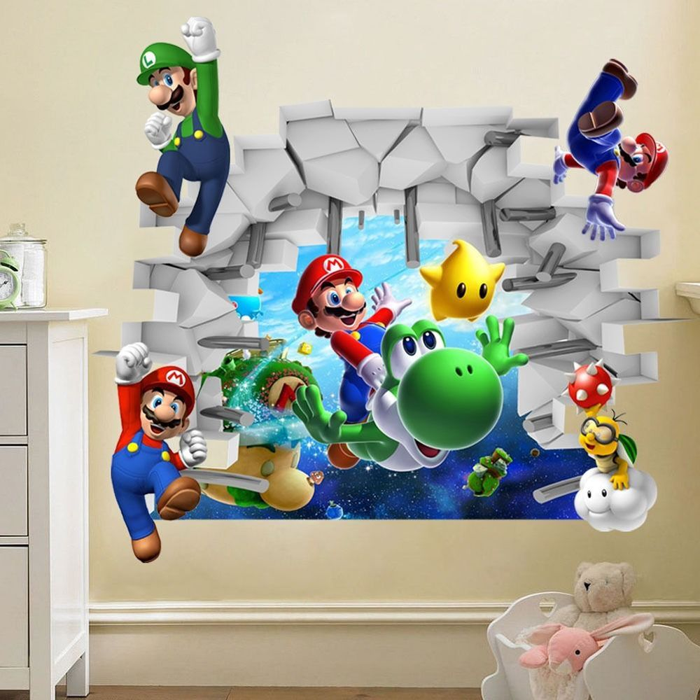 2015-Kids-Nursery-Super-font-b-Mario-b-font-font-b-Bros-b-font-3D-View