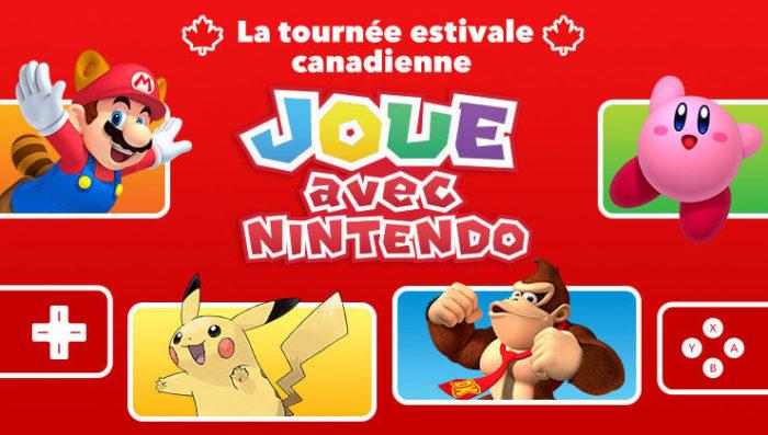 Nintendo va débarquer au Québec pour faire une tournée d'activités!