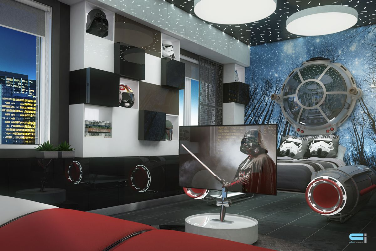 Idee decoration chambre star wars for Decoration porte star wars