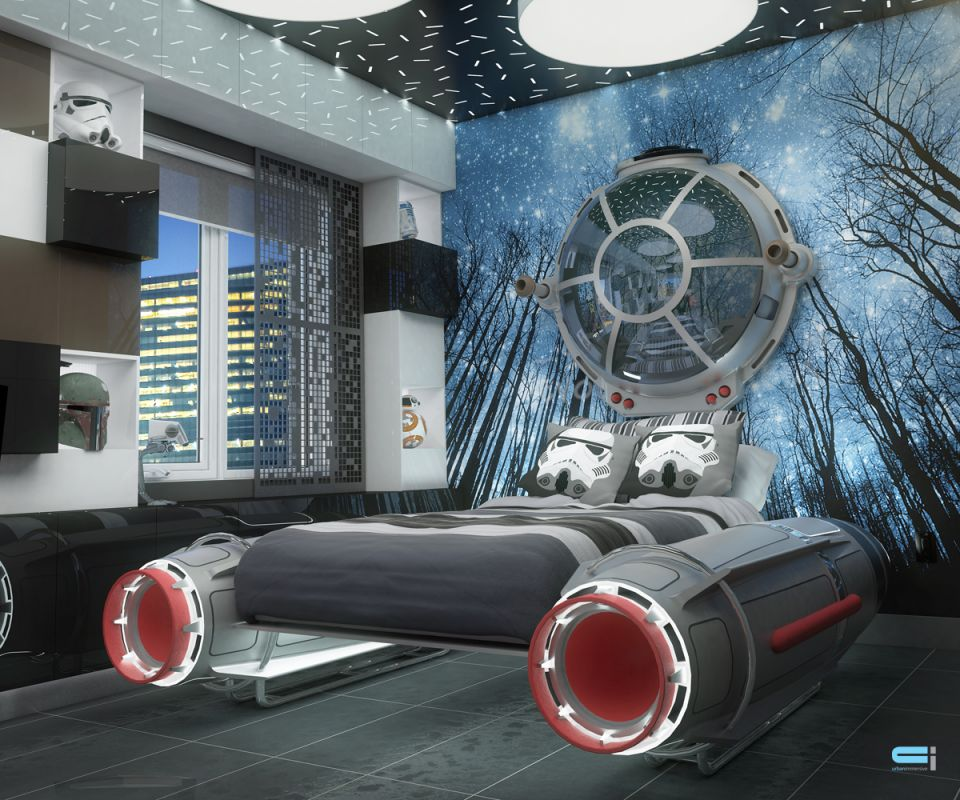 des chambres star wars. Black Bedroom Furniture Sets. Home Design Ideas