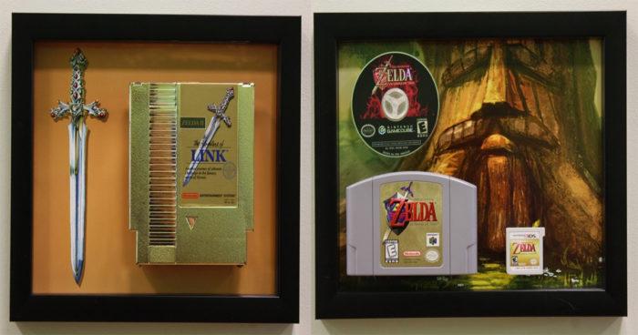 Un fan de Zelda a créé des cadres personnalisés avec ses jeux préférés!