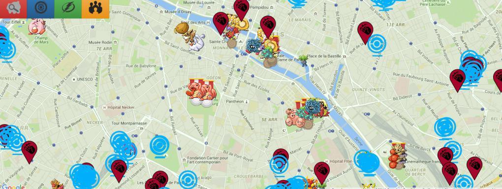 Pok mon go une carte interactive pour trouver l for Go kart interieur quebec
