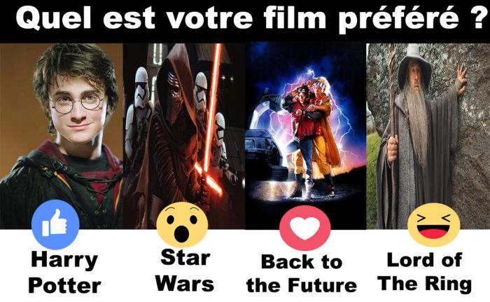 C'est l'heure de voter! Quel est votre film préféré?