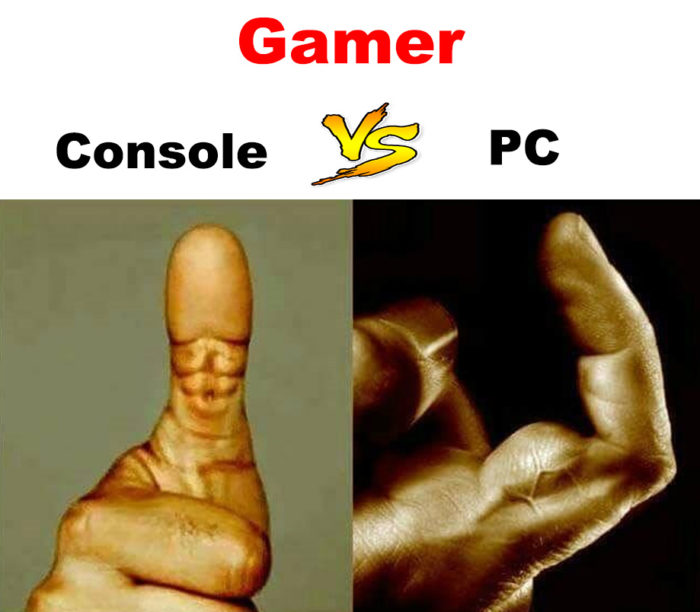 Gamer console vs PC!