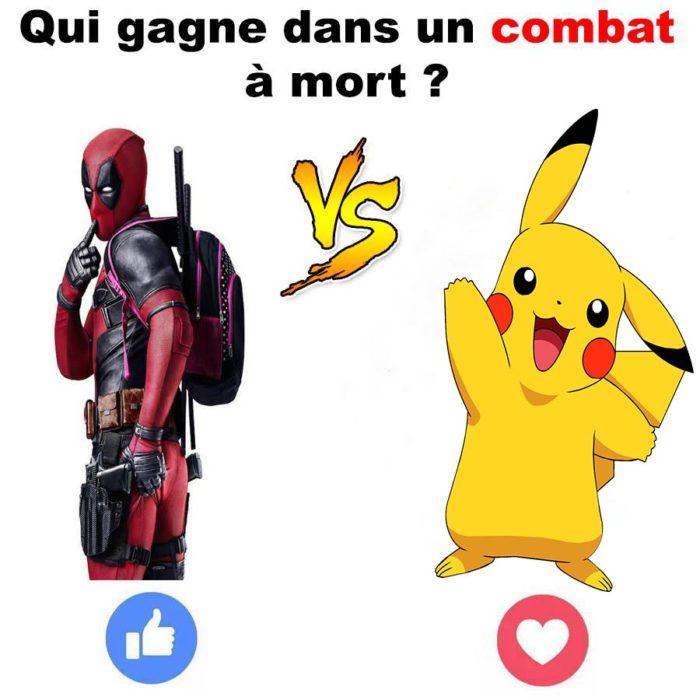On dirait que les gens votent plus selon leur personnage préféré que sur la force du personnage! On va donc essayer avec Pikachu! Le gagnant affrontera un nouveau personnage demain!