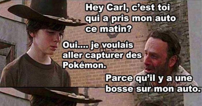 Quand Carl joue à Pokémon Go!