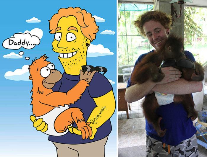 16 photos de personnes transformées en personnages des Simpsons!