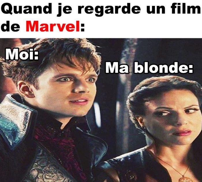Quand je regarde un film de Marvel!