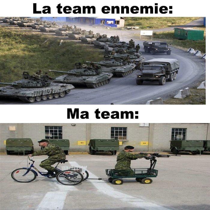 La team ennemie vs ma team!