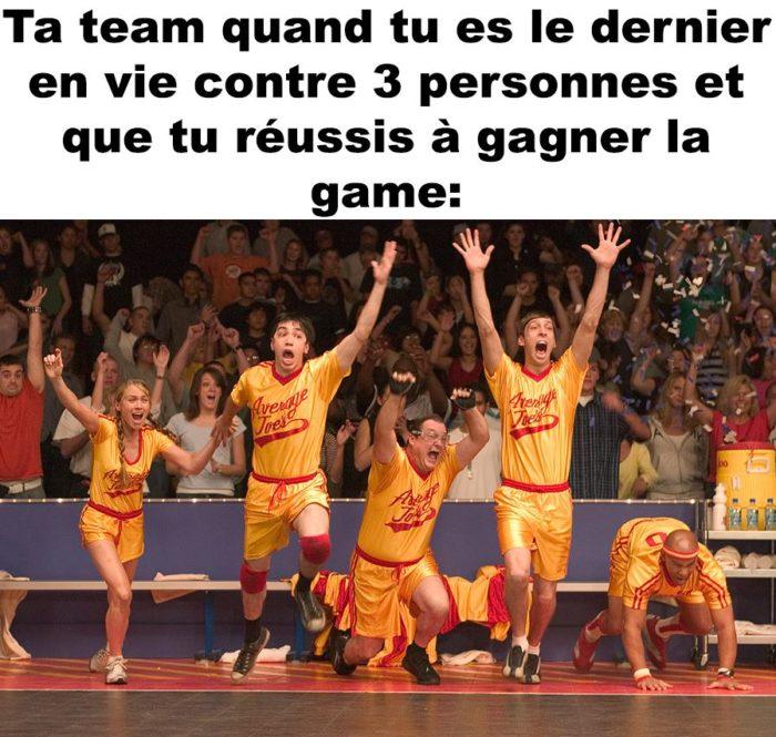 Ta team quand tu réussis à gagner en 1vs3!