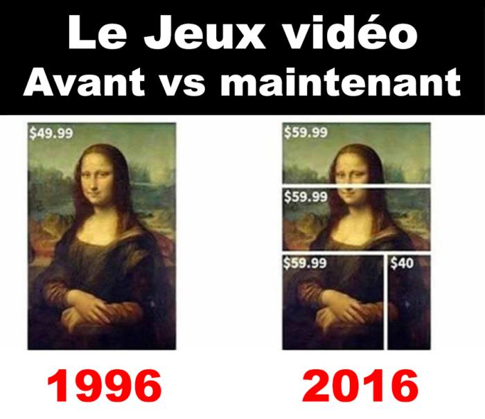 Les jeux vidéo avant vs maintenant…