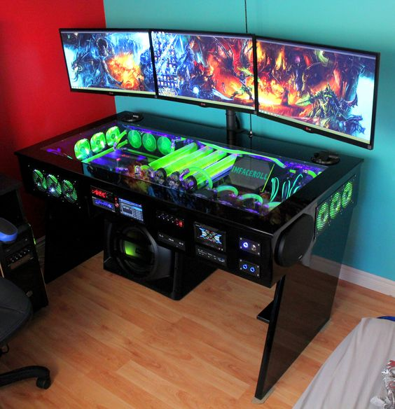 35 setup de gaming epic pour les gamer sur pc. Black Bedroom Furniture Sets. Home Design Ideas