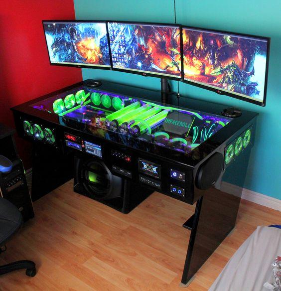 35 setup de gaming epic pour les gamer sur pc for Collant mural canada