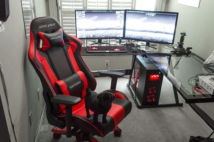 35 setup de gaming EPI...L Shaped Computer Desk For Two