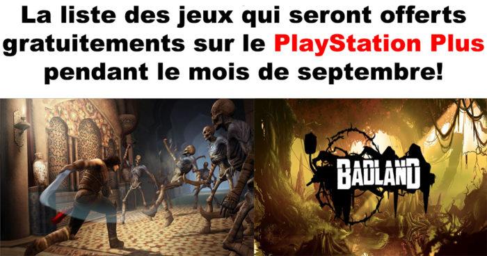 PlayStation Plus: Les jeux gratuits du mois de septembre!