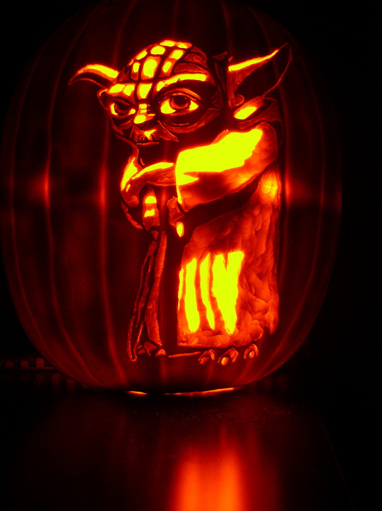 Magnificent Yoda Starwars Creative Pumpkin Decorations For Halloween Theme