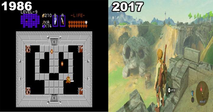 The Legend of Zelda: Breath of the Wild: Nintendo a dévoilé des images du jeu qui fait référence au premier Zelda sur NES!