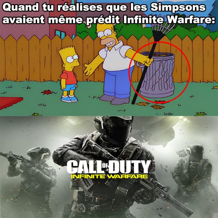 Les Simpsons avaient même prédit Call of Duty Infinite Warfare!