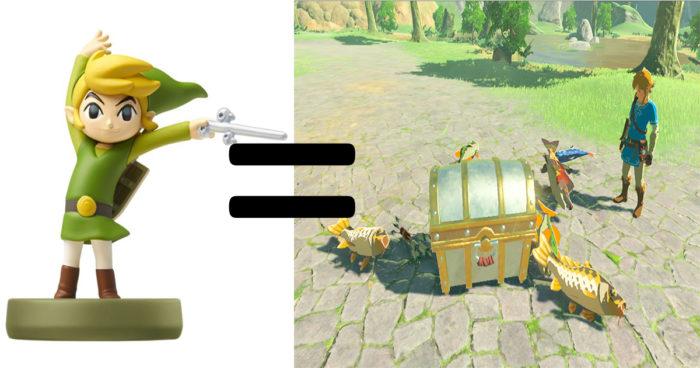 Zelda Breath of the Wild: Les Amiibo offriront plusieurs récompenses différentes dans le jeu!