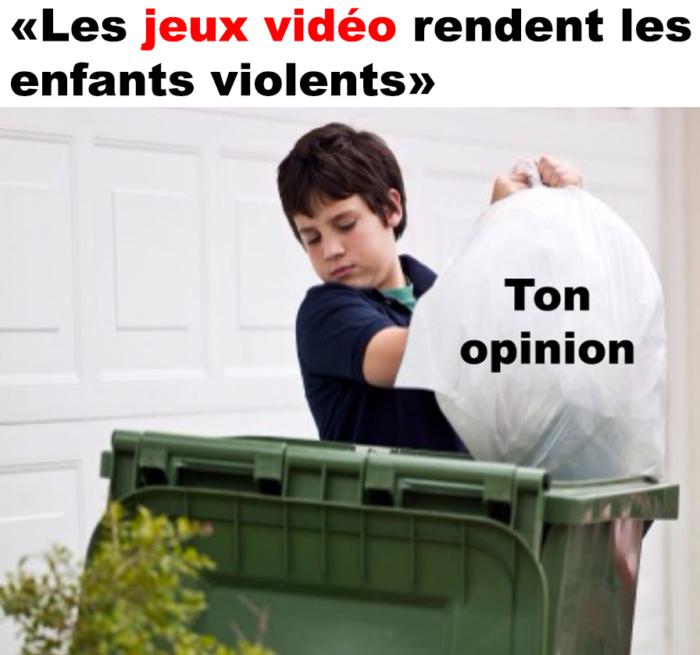 «Les jeux vidéo rendent les enfants violents»