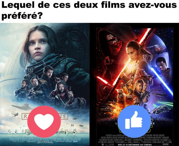 Star Wars : Le Réveil de la Force ou Rogue One?