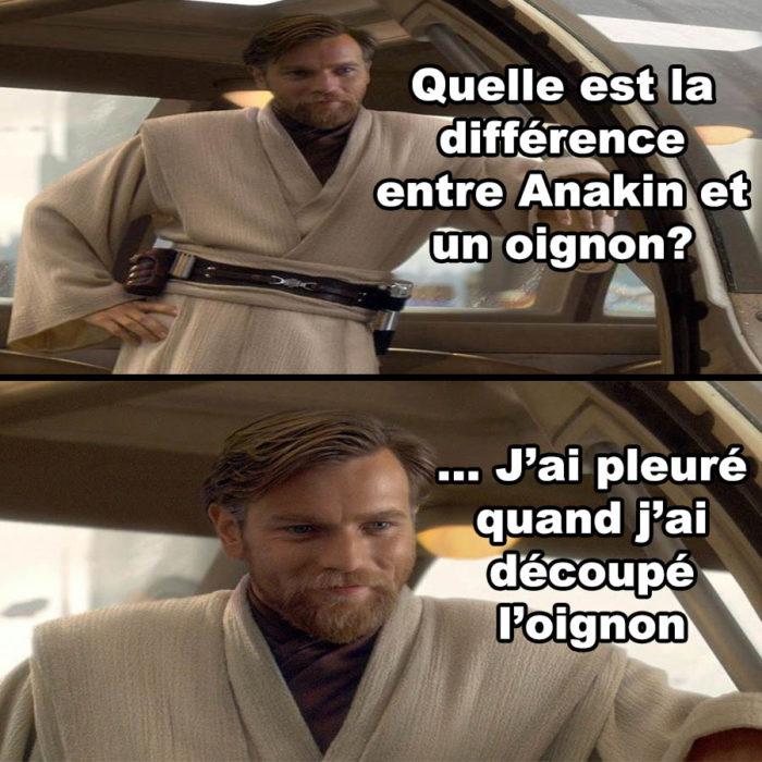 La différence entre Anakin et un oignon?