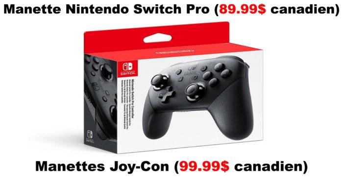 Nintendo Switch : Le prix des accessoires officiels!
