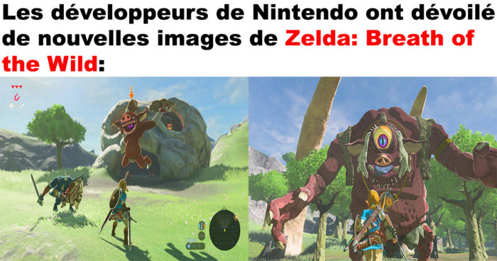 Les nouvelles images de Zelda Breath of the Wild
