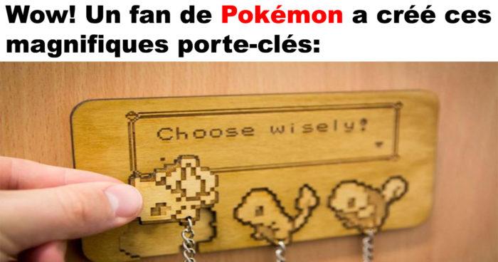 Des porte-clés magnifiques de Pokémons