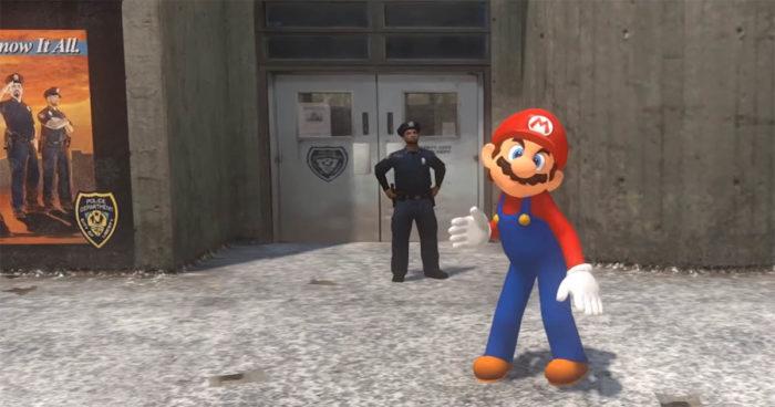 Une parodie hilarante de Super Mario Odyssey dans GTA IV!