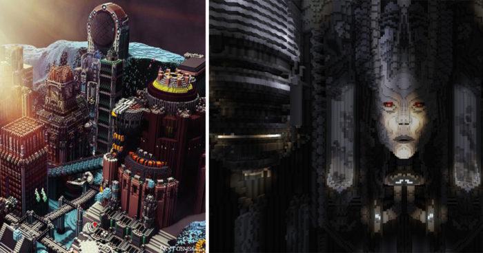 Ce joueur de Minecraft a réalisé des décors complètement fous!