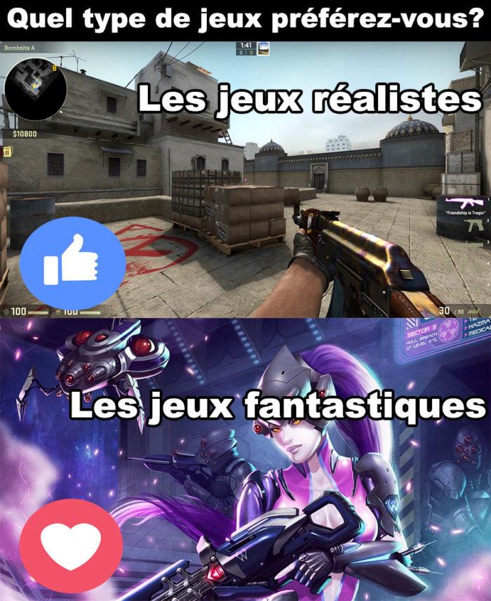 Quel type de jeux préférez-vous?