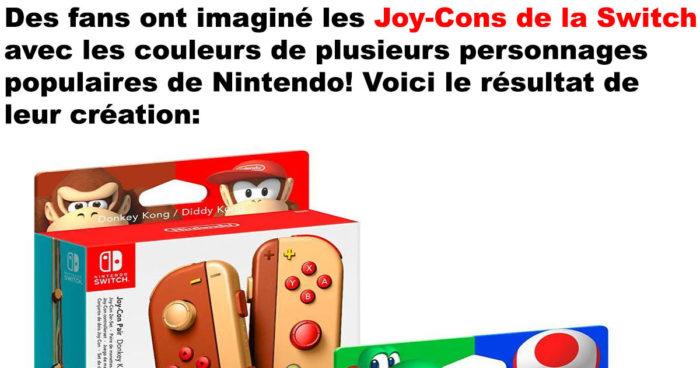 Les Joy-Cons de la Nintnedo Switch designer par des fans de Nintendo!