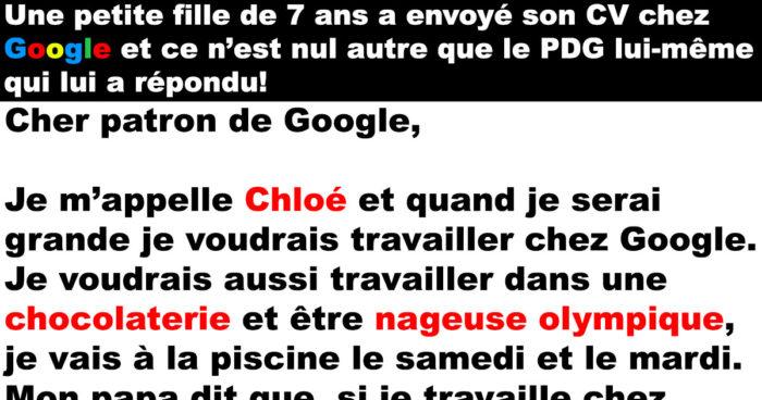 Le PDG de Google répond au CV d'une petite fille de  7 ans!