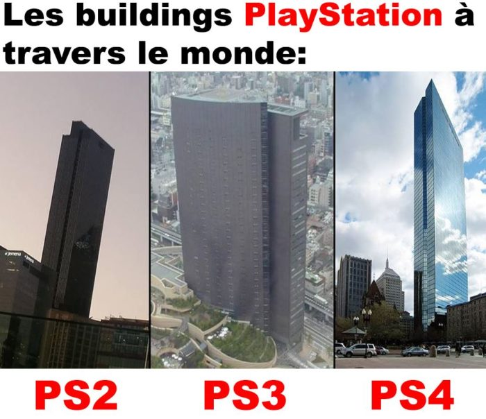 Les buildings PlayStation