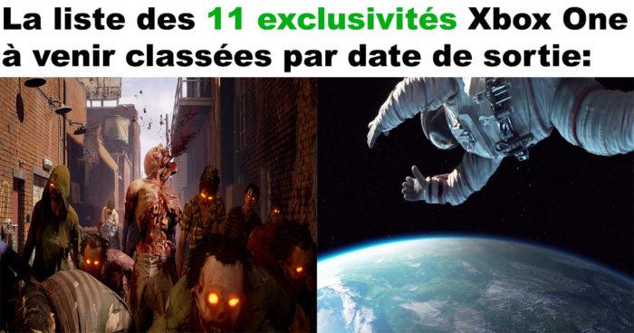 Xbox One: La liste complète de tous les jeux exclusifs à venir!