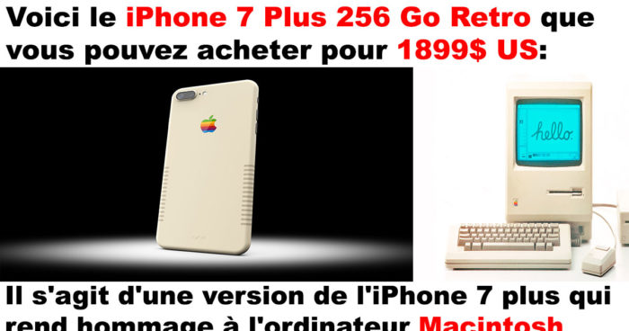 Le iPhone 7 Plus Retro