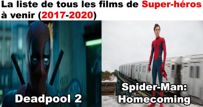 Les films de Super-Héros à venir