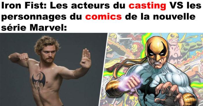 Iron Fist: Les acteurs du casting VS les comics