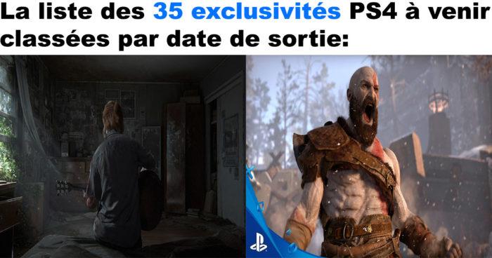 PS4: La liste complète de tous les jeux exclusifs à venir!
