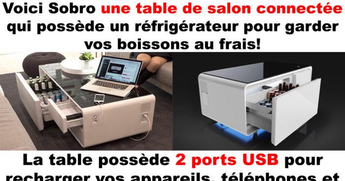 La table basse connectée Sobro!