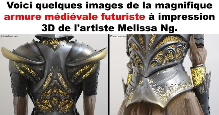 Il a fallu 518 heures pour créer cette armure médiévale futuriste!