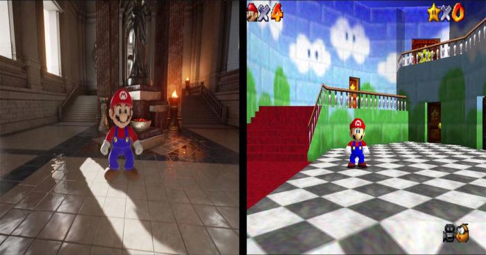 Un gamer a recréé le jeu Super Mario 64 d'une façon super réaliste!