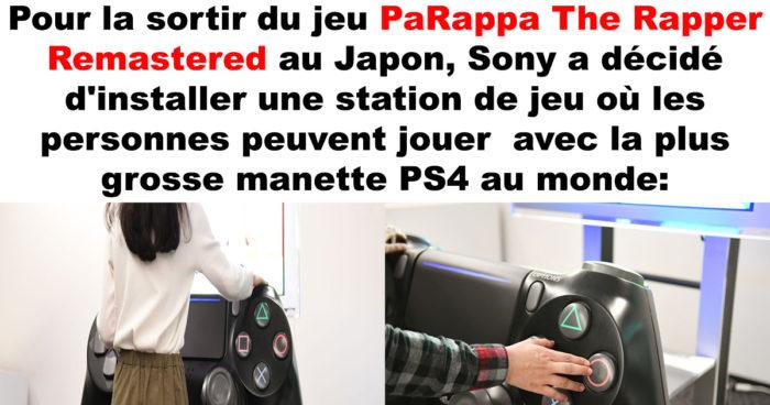 Sony a créé la plus grosse manette PS4 fonctionnelle au monde!