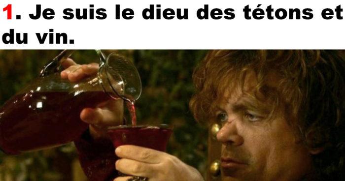 Le top 10 des meilleures répliques de Tyrion Lannister (Game of Thrones)